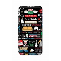 Crafting Crow Mobile Back Cover For Apple Iphone X - Friends 2