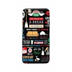 Crafting Crow Mobile Back Cover For Vivo V5 - Friends 2