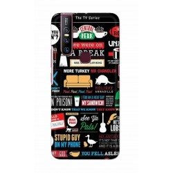 Crafting Crow Mobile Back Cover For Vivo V15 - Friends 2