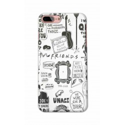 Crafting Crow Mobile Back Cover For Apple Iphone 8 Plus - Friends