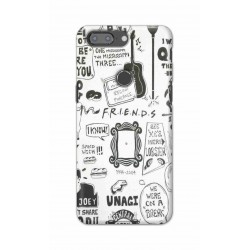 Crafting Crow Mobile Back Cover For One Plus 5t - Friends