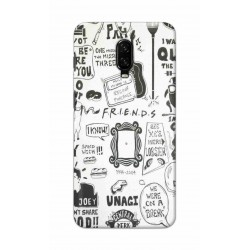 Crafting Crow Mobile Back Cover For One Plus 6t - Friends