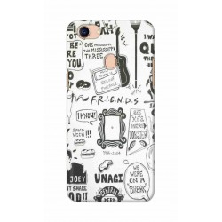 Crafting Crow Mobile Back Cover For Oppo F5 - Friends