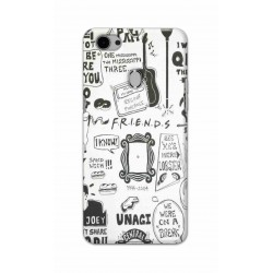 Crafting Crow Mobile Back Cover For Oppo F7 - Friends