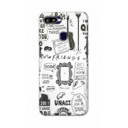 Crafting Crow Mobile Back Cover For Oppo F9 - Friends