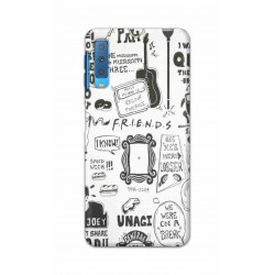 Crafting Crow Mobile Back Cover For Samsung Galaxy A7 2018 - Friends