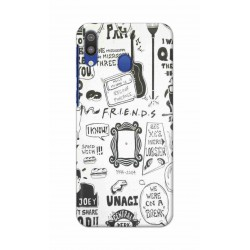 Crafting Crow Mobile Back Cover For Samsung Galaxy M20 - Friends