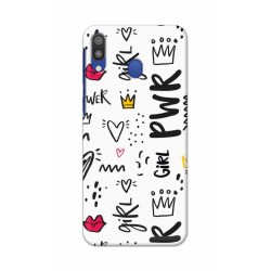 Crafting Crow Mobile Back Cover For Samsung Galaxy M20 - Girl Power