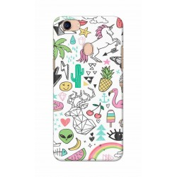 Crafting Crow Mobile Back Cover For Oppo F5 - Good Things