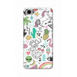 Crafting Crow Mobile Back Cover For Oppo F7 - Good Things