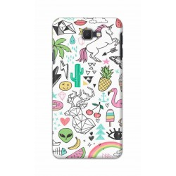 Crafting Crow Mobile Back Cover For Samsung Galaxy J7 Prime - Good Things