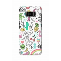 Crafting Crow Mobile Back Cover For Samsung S8 Plus - Good Things