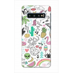Crafting Crow Mobile Back Cover For Samsung Galaxy S10 - Good Things