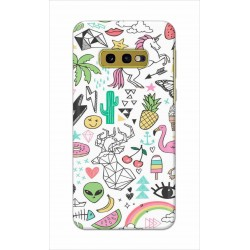 Crafting Crow Mobile Back Cover For Samsung Galaxy S10e - Good Things