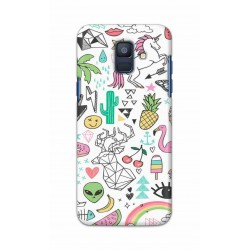 Crafting Crow Mobile Back Cover For Samsung Galaxy A6 2018 - Good Things