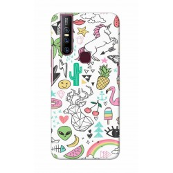 Crafting Crow Mobile Back Cover For Vivo V15 - Good Things