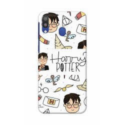 Crafting Crow Mobile Back Cover For Samsung Galaxy M20 - Harry