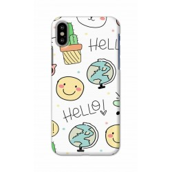 Crafting Crow Mobile Back Cover For Apple Iphone X - Hello