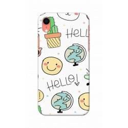 Crafting Crow Mobile Back Cover For Apple Iphone XR - Hello