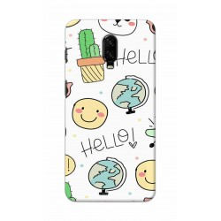 Crafting Crow Mobile Back Cover For One Plus 6t - Hello