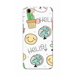 Crafting Crow Mobile Back Cover For Oppo F5 - Hello