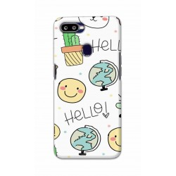 Crafting Crow Mobile Back Cover For Oppo F9 Pro - Hello