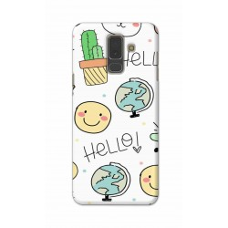 Crafting Crow Mobile Back Cover For Samsung A6 Plus - Hello