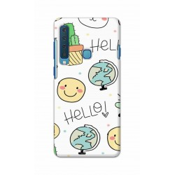 Crafting Crow Mobile Back Cover For Samsung Galaxy A9 2018 - Hello