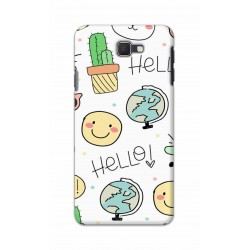 Crafting Crow Mobile Back Cover For Samsung Galaxy J7 Prime - Hello