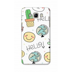 Crafting Crow Mobile Back Cover For Samsung Galaxy J8 - Hello