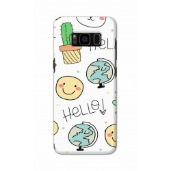 Crafting Crow Mobile Back Cover For Samsung S8 Plus - Hello