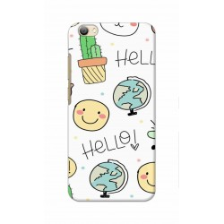 Crafting Crow Mobile Back Cover For Vivo V5s - Hello