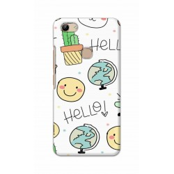Crafting Crow Mobile Back Cover For Vivo Y81 - Hello