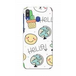 Crafting Crow Mobile Back Cover For Samsung Galaxy M20 - Hello