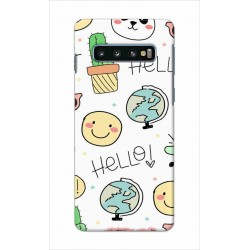 Crafting Crow Mobile Back Cover For Samsung Galaxy S10 Plus - Hello