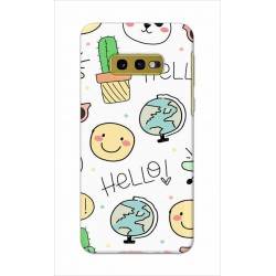 Crafting Crow Mobile Back Cover For Samsung Galaxy S10e - Hello