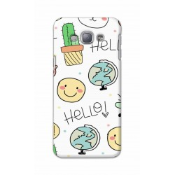 Crafting Crow Mobile Back Cover For Samsung Galaxy A8 - Hello