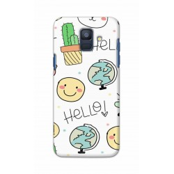 Crafting Crow Mobile Back Cover For Samsung Galaxy A6 2018 - Hello