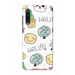 Crafting Crow Mobile Back Cover For Xiaomi Mi 9 - Hello