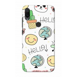 Crafting Crow Mobile Back Cover For Xiaomi Mi Play - Hello