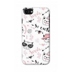 Crafting Crow Mobile Back Cover For Apple Iphone 8 - Kitty
