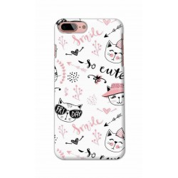 Crafting Crow Mobile Back Cover For Apple Iphone 8 Plus - Kitty