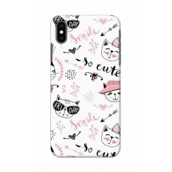 Crafting Crow Mobile Back Cover For Apple Iphone XS - Kitty