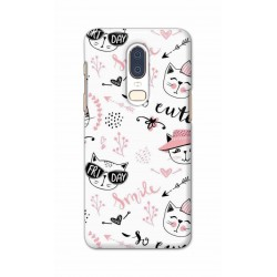 Crafting Crow Mobile Back Cover For One Plus 6 - Kitty