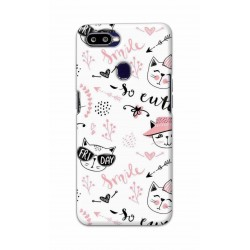 Crafting Crow Mobile Back Cover For Oppo F9 - Kitty