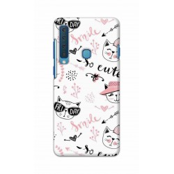 Crafting Crow Mobile Back Cover For Samsung Galaxy A9 2018 - Kitty