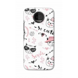 Crafting Crow Mobile Back Cover For Motorola Moto G5S Plus - Kitty