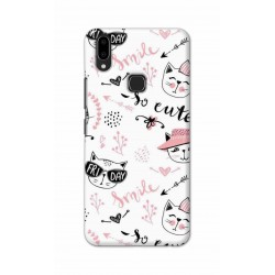 Crafting Crow Mobile Back Cover For Vivo V9 - Kitty