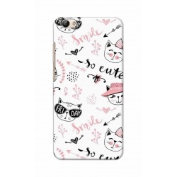 Crafting Crow Mobile Back Cover For Vivo Y66 - Kitty