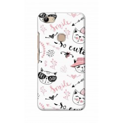 Crafting Crow Mobile Back Cover For Vivo Y81 - Kitty